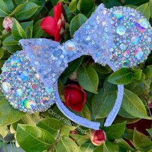 AB Iridescent Crystalized Minnie Ears